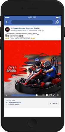 K1 Instagram Facebook ad
